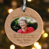 Forever In Our Hearts Photo Memorial Ornament - 6352