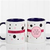 Sweet and Sassy Personalized Coffee Mug 11oz.- Blue - 6395-BL