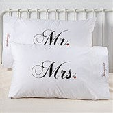 Mr. and Mrs. Collection Personalized Pillowcase Set - 6407