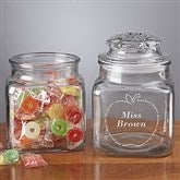 Inspiring Teacher Personalized Glass Treat Jar - 6432-N