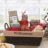Embroidered Wicker Basket- Name - 6456-N