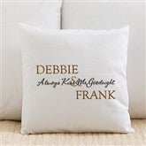 Kiss Me Goodnight Personalized Throw Pillow - 6468