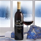 Personalized Happy Hanukkah Wine Art-Star of David - 6486D-SD