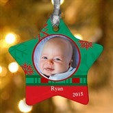 1-Sided Picture Perfect Photo Star Ornament - 6487-1