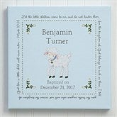 Baptism Blessings Personalized Canvas Print - 16