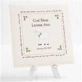 Baptism Blessings Personalized Canvas Print -8