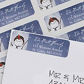 Snow Family Return Address Labels - 6502