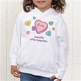 Little Valentine Personalized Toddler Hooded Sweatshirt - 6527-CTHS