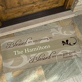 Blessed Are You Personalized Oversized Doormat- 24x48 - 6546-O