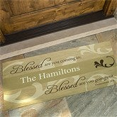 Blessed Are You Personalized Oversized Doormat - 6546-O