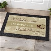 Blessed Are You Personalized Doormat- 20x35 - 6546-M