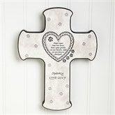Paw Prints On My Heart Pet Memorial Cross - 6559