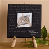 Paw Prints On Our Heart Personalized Table-Top Canvas Art-5 1/2