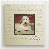 Paw Prints On Our Heart Personalized Canvas Print-24