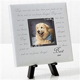 Paw Prints On Our Heart Personalized Table-Top Canvas Print-8