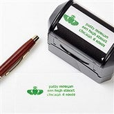 Golden Claddagh Address Rubber Stamper - 6584-S