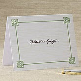 Irish Knot Personalized Note Cards - 6585-N