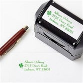 Emerald Border Address Rubber Stamper - 6586-S