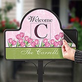 Spring Tulip Personalized Magnetic Garden Sign - 6613-M