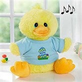 Easter Egg Personalized Plush Quacking Duck- Boy - 6614-B