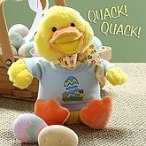 Personalized Quacking Easter Duck- Boy - 6614-B