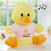 Easter Egg Personalized Plush Quacking Duck- Girl - 6614-G
