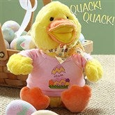 Personalized Quacking Easter Duck- Girl - 6614-G