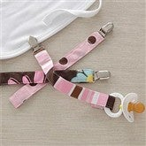 Set of 3 Pacifier Clips for Girls - 6618-PP
