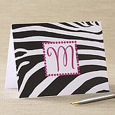 Zebra Print Personalized Notecards & Envelopes - 6621-N