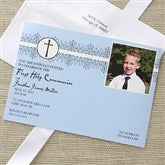 My First Communion Invitations - Blue - 6623-B