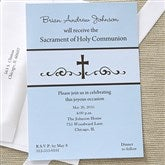 Precious Prayer Communion Invitations - Blue - 6625-B