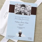 Bless This Child Communion Invitations- Blue - 6627-B