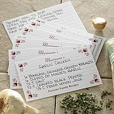 Family Favorites 3x5 Personalized Recipe Cards - 6645