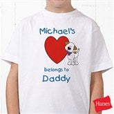 Puppy Heart Belongs Personalized Hanes® Youth T-Shirt - 6654YCT
