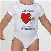 Puppy Heart Belongs Personalized Baby Bodysuit - 6654-CBB
