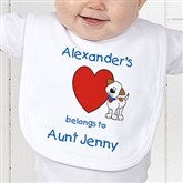 Puppy Heart Belongs - Personalized Bib - 6654B