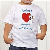 Puppy Heart Belongs Personalized Toddler T-Shirt - 6654-TT