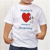 Puppy Heart Belongs Personalized Toddler T-Shirt - 6654-TT
