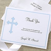 Holy Cross Custom Thank You Cards - Blue - 6667-B