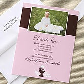 Bless This Child Photo Thank You Cards- Pink - 6669-P