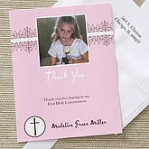 My First Communion Thank You Cards - Pink - 6671-P