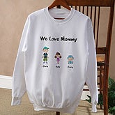 Character Collection White Sweatshirt - 6703-S