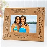 Girlfriends Personalized Picture Frame- 4 x 6 - 6711-S