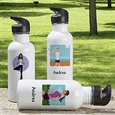Workout Girl Personalized Water Bottle - 6716