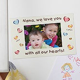 All Our Hearts Personalized Photo Magnet - 6717
