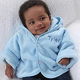 Pampered Embroidered Baby Jacket- Blue - 6725-B
