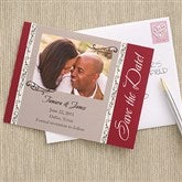 Filigree Save The Date Photo Cards - 6736-C