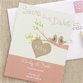 Love Birds Custom Save The Date Cards - 6754-C