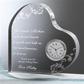 Dear Mom Personalized Heart Clock - 6784
