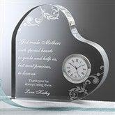 Dear Mom Personalized Heart Clock - 6784